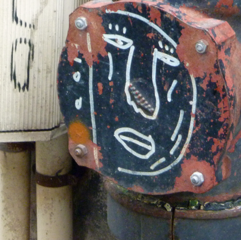 Big-face on pipe closing by utility box fabric by susaninparis on Spoonflower - custom fabric