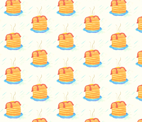 pancakes_2 fabric by n@ on Spoonflower - custom fabric