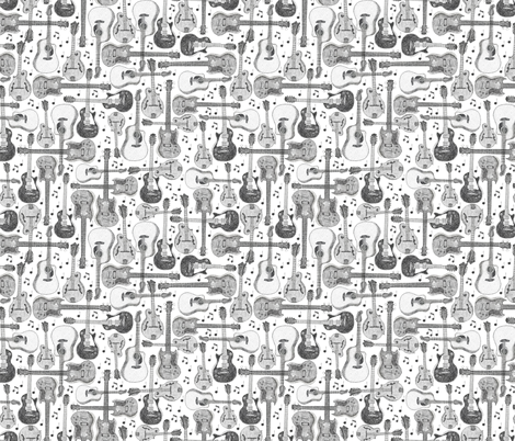 Guitars fabric by mandakay on Spoonflower - custom fabric