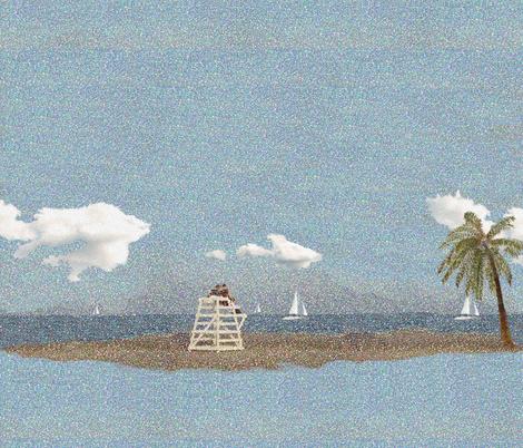 Beach Dream 2 fabric by poetryqn on Spoonflower - custom fabric