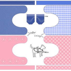 Pink & Blue Dog Coats