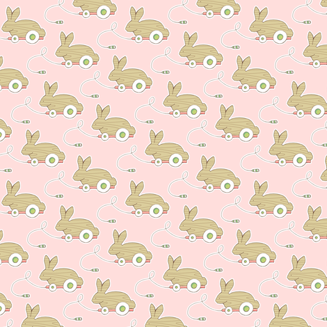 Pull Toys - Pink fabric by pattysloniger on Spoonflower - custom fabric
