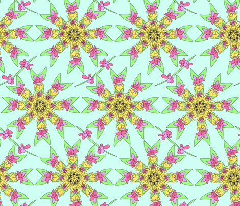 Rabbit Flower fabric by rachel_alice on Spoonflower - custom fabric