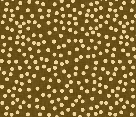 dot_linen_espresso fabric by holli_zollinger on Spoonflower - custom fabric