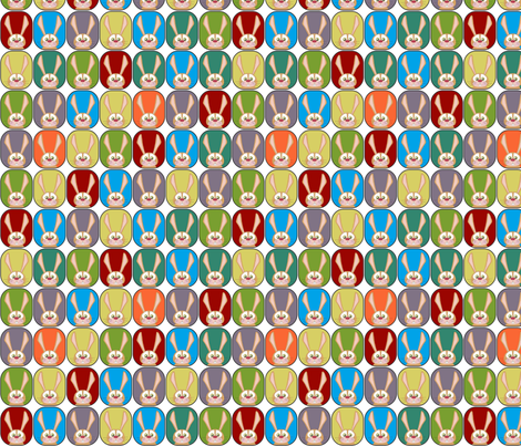 small scale boy rainbow rabbits fabric by scrummy on Spoonflower - custom fabric