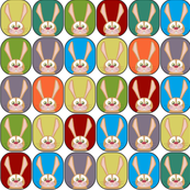 small scale boy rainbow rabbits