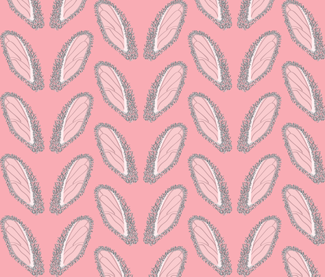 Bunny ears on Pink fabric by majobv on Spoonflower - custom fabric