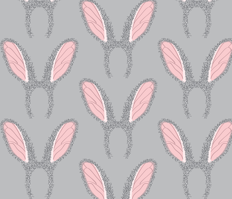 Bunny ears or Moths? fabric by majobv on Spoonflower - custom fabric
