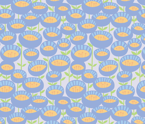 funkyflowers fabric by mrsjellyfish on Spoonflower - custom fabric