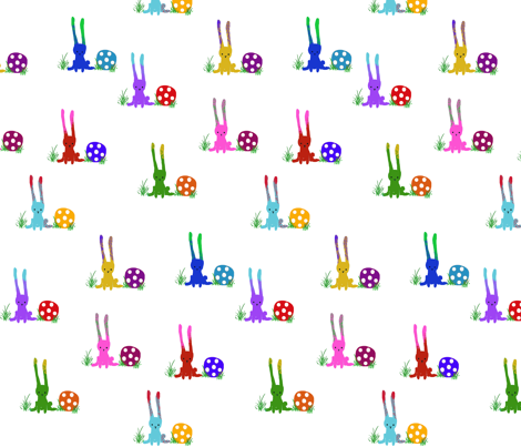 rabbits fabric by ribiera on Spoonflower - custom fabric