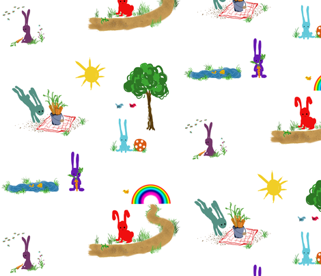 rabbits habbits fabric by ribiera on Spoonflower - custom fabric