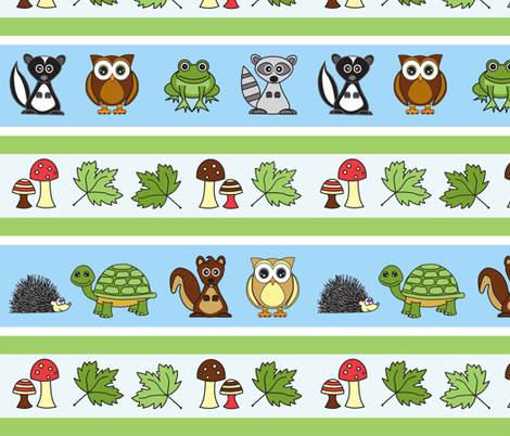 Woodland Creatures fabric by jsdesigns on Spoonflower - custom fabric