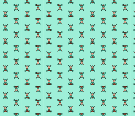 robunny fabric by cshumanmiller on Spoonflower - custom fabric