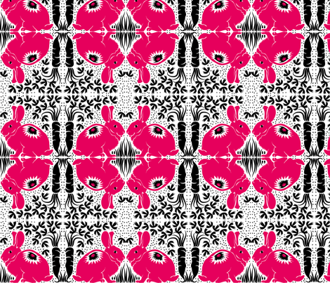 Red Rabbit fabric by dianne_annelli on Spoonflower - custom fabric