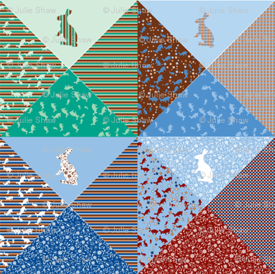 Bunny Bandanas - zoom to view all 16 neck ties.