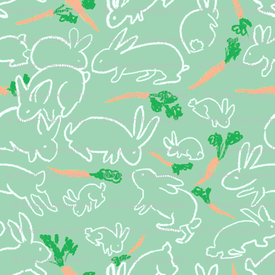 rabbits and carrots green