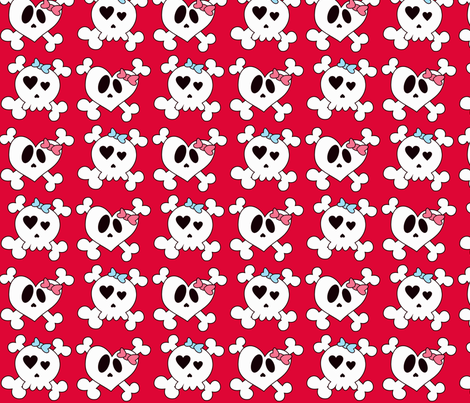 Girly Skulls fabric by natitys on Spoonflower - custom fabric