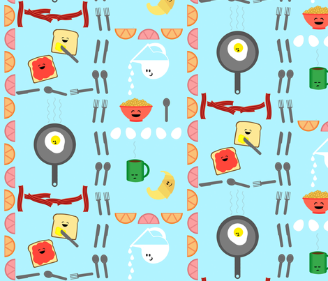 Rise n' Shine Breakfast fabric by tamarack on Spoonflower - custom fabric