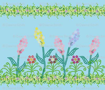 Pointillism Garden with Vines