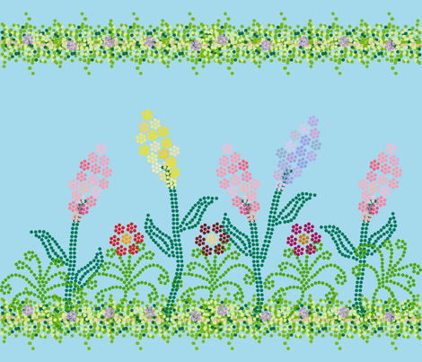 Pointillism Garden with Vines fabric by dawnams on Spoonflower - custom fabric