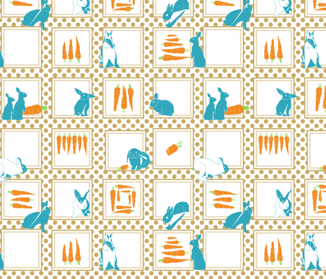 Bunnies love carrots! fabric by newmom on Spoonflower - custom fabric