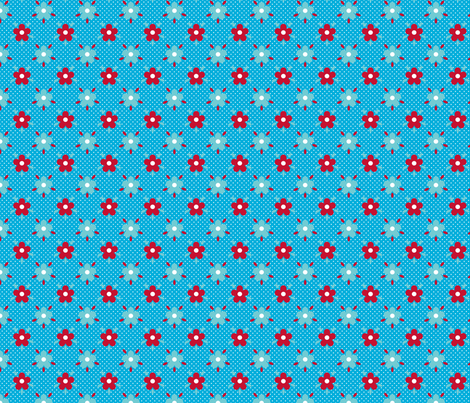 fleurette_pois_dots fabric by nadja_petremand on Spoonflower - custom fabric
