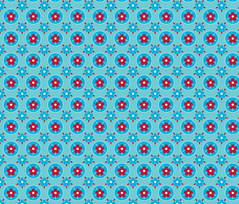 fleurette_cercle_bleu fabric by nadja_petremand on Spoonflower - custom fabric