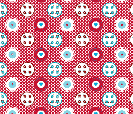 motif_macaron_pois_m fabric by nadja_petremand on Spoonflower - custom fabric