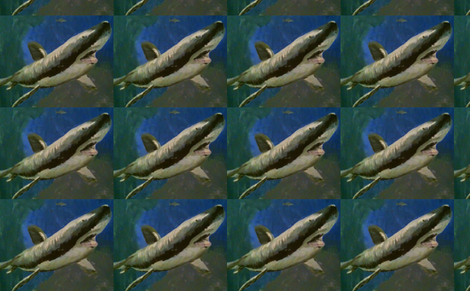 Shark Attack fabric by funkaestudio on Spoonflower - custom fabric