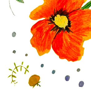 poppies and raindrops