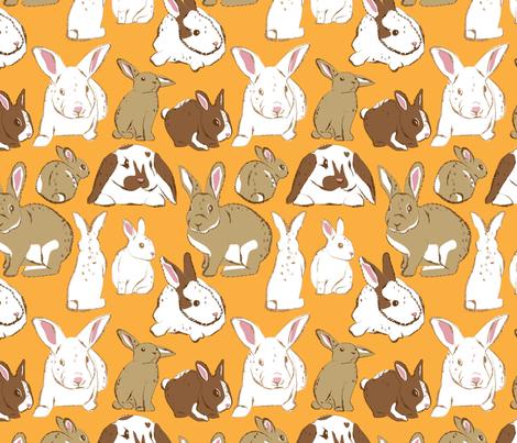 Rabbits fabric by dynasty_b on Spoonflower - custom fabric