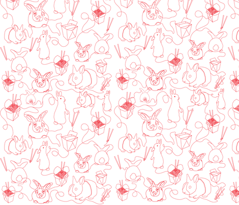 2011_Year_of_Rabbit fabric by wubba_zang on Spoonflower - custom fabric