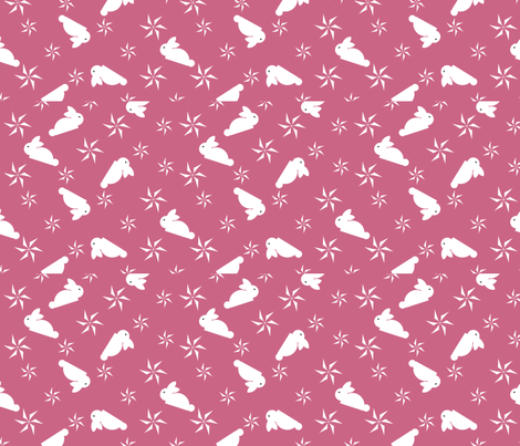 Hoppy_Spring_2011 fabric by jumping_monkeys on Spoonflower - custom fabric