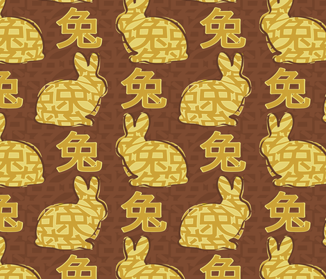 anno_lepus fabric by davidmatthewparker on Spoonflower - custom fabric