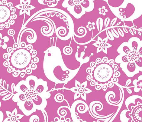 Chirpy 4 fabric by yuyu on Spoonflower - custom fabric