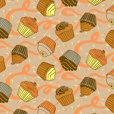 Cupcake Par-tay fabric by emuattacks on Spoonflower - custom fabric