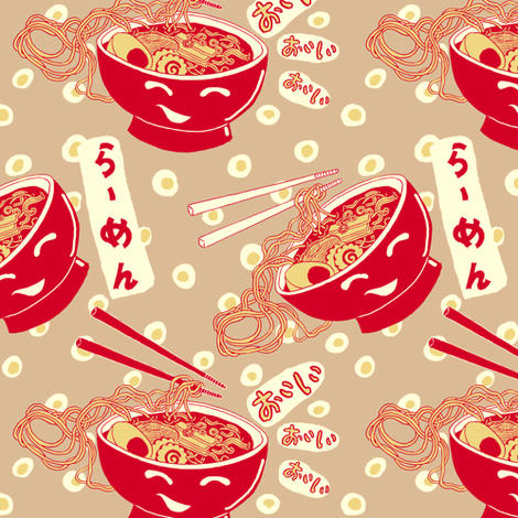 Ramen Time! fabric by emuattacks on Spoonflower - custom fabric