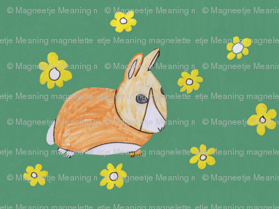 A Rabbit in the Field by 10yrs old Magneetje