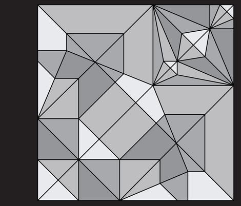 Oribunny or Origami Rabbit Unfolded fabric by foxfire on Spoonflower - custom fabric
