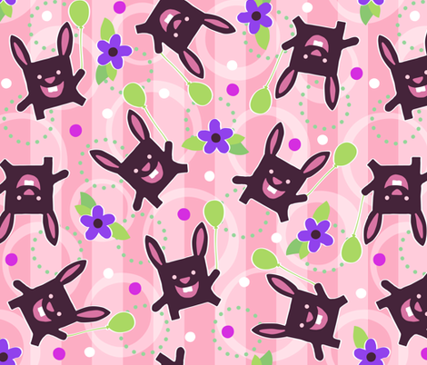 monster bunny  fabric by jennartdesigns on Spoonflower - custom fabric