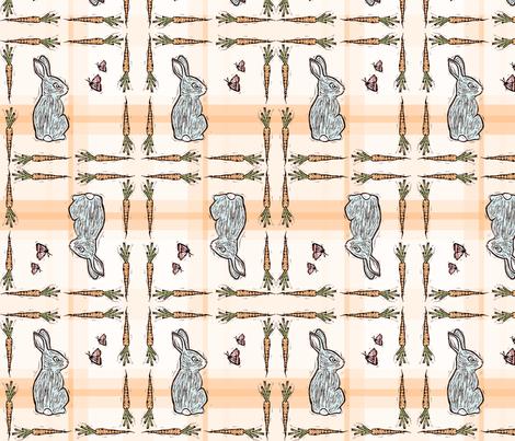 Bunnies on Plaid fabric by kim_buchheit on Spoonflower - custom fabric