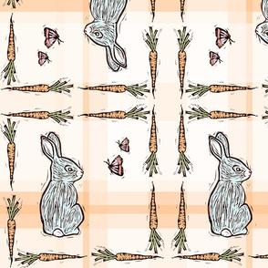Bunnies on Plaid