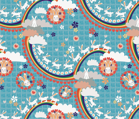 Lucky Rabbits fabric by kezia on Spoonflower - custom fabric