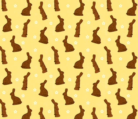 Cocoa Bunnies fabric by jenimp on Spoonflower - custom fabric