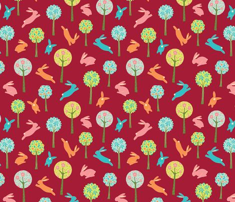Lucky Rabbits fabric by gracedesign on Spoonflower - custom fabric