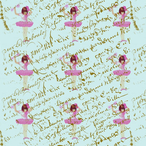 Ballerinas_on_french_script_pattern