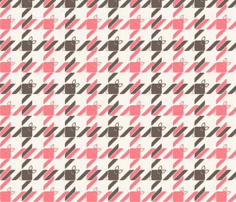Bunny Houndstooth fabric by meduzy on Spoonflower - custom fabric