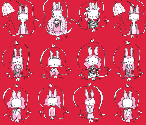 Years of the Rabbit fabric by creedancelovesyou on Spoonflower - custom fabric