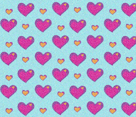 groovy_hearts_pointillised fabric by snork on Spoonflower - custom fabric