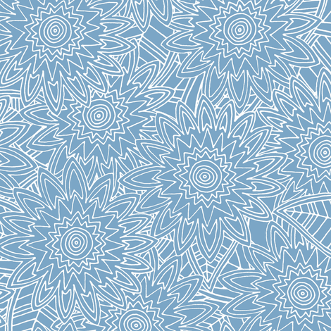 New York blue fleur fabric by scrummy on Spoonflower - custom fabric